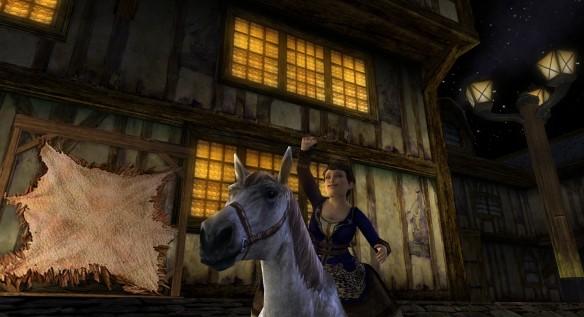 Screenshot of Cedia waving in LOTRO.
